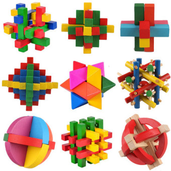 Harga Kong Mingsuo Lu Ban lock suit students adult nine serial Yi intelligence early childhood toy building blocks toys to unlock