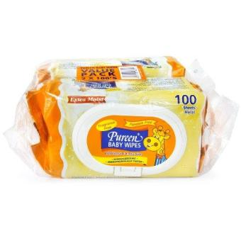 Harga PUREEN BABY WIPES (FRAGRANCE FREE) 2X100'S