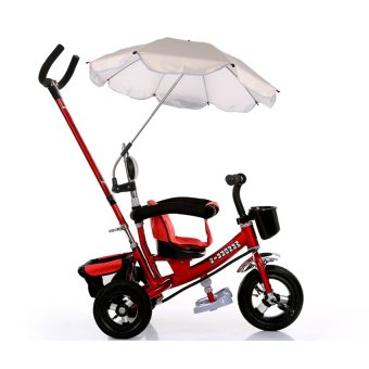 Harga S and F Pushchair Baby Pram Parasol Sun Protection UV Rays Umbrella Shade White (EXPORT)
