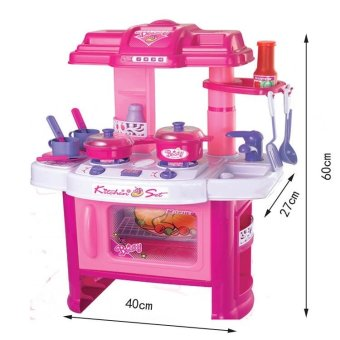 Xiong Cheng 008-26 Deluxe Beauty Kitchen Appliance Cooking Play Set Pink - 3
