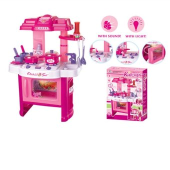 Xiong Cheng 008-26 Deluxe Beauty Kitchen Appliance Cooking Play Set Pink - 2