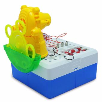 Harga XTV Little Bear Bubble Machine DIY Intellect Games Educational Science Kits - intl