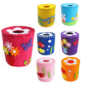 Harga Vakind DIY 3D EVA ClothTissue Holder Box Cover Child Craft Toy Kits - intl