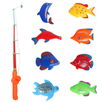 Harga Magnetic Fishing Game Set Toy Rod 8 Fish Catch Hook Pull Children bath - intl