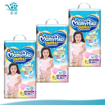 MamyPoko Extra Dry Pants Girl XL 46 pieces x 3 packs