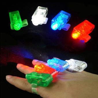 Harga LED Bright Laser Finger Ring Light Lamp Rave Beam Torch Party Toy - intl