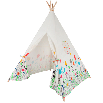 Harga Flowers Printed Kids Play Tent Cotton Canvas Baby Tipi Tent Play House for Baby Room
