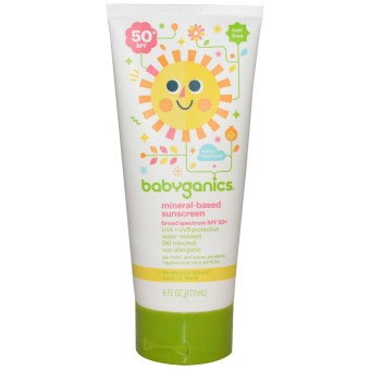 Harga Babyganics Mineral-Based Baby Sunscreen Lotion, SPF 50, 6oz/ 117g Tube