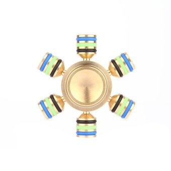 Harga Torbar Brass Rudder Fidget Hand Finger Spinner Focus EDC Stress Toy Kids Adult Gold - intl