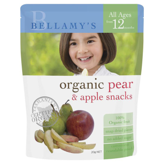Harga Bellamy's Organic Organic Pear & Apple Snacks