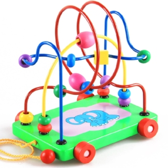 Harga Kids wooden around beads
