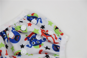 Asenappy Reuseable Washable Baby Cloth Swim Diapers Monster - 4