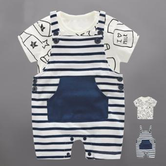 Harga Baby Boys Rompers T-shirt Set Summer Boys Clothing Sets - intl
