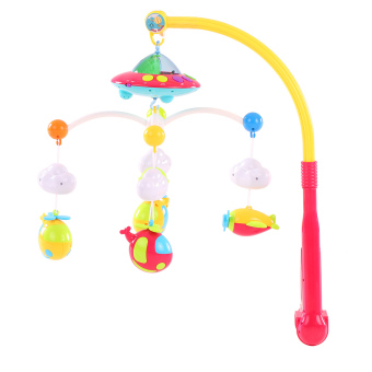 Baby Bed Bell Musical Mobile Crib Dreamful Bed Ring Hanging Rotate Bell - intl - 2