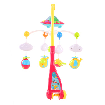 Baby Bed Bell Musical Mobile Crib Dreamful Bed Ring Hanging Rotate Bell - intl - 4