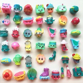 40pcs/lot SHOPKINS SEASON 5 Real Brands Kids Toy Shopkins Toy Furniture Food Model Christmas Gift - 4