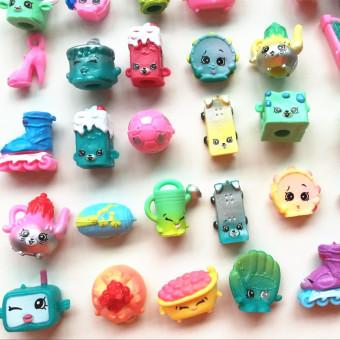 40pcs/lot SHOPKINS SEASON 5 Real Brands Kids Toy Shopkins Toy Furniture Food Model Christmas Gift - 3