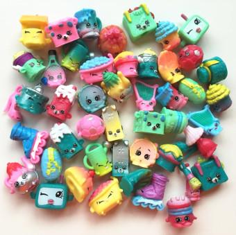 40pcs/lot SHOPKINS SEASON 5 Real Brands Kids Toy Shopkins Toy Furniture Food Model Christmas Gift - 2