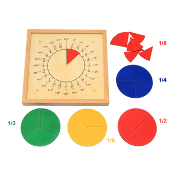 Harga Baby Toys Circular Mathematics Fraction Division Teaching Aids Montessori Board Wooden Toys Child Educational Gift Math Toy - intl