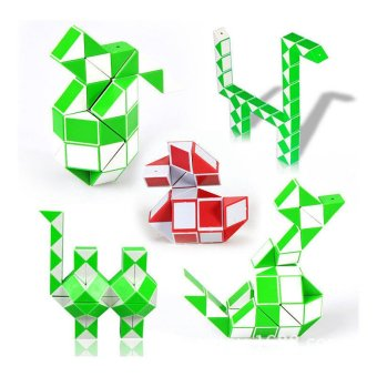 Harga Fancytoy Magic Snake Shape Toy Game 3D Cube Puzzle Twist Puzzle Toy Gift Random Color