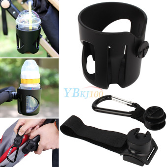 Harga Universal Baby Stroller Buggy Pushchair Bicycle Bottle Cup Holder + Carabiner - intl