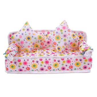 Harga Chic Mini Furniture Flower Soft Sofa Couch With 2 Cushions For Doll House
