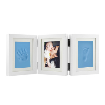 Harga Photo Frames,Double Print Frame Classic Toddler Infant Baby Hand and Foot Print Photo Frame Kit Picture Frames baby Boy/Girl Handprint or Footprint Frame Keepsake Gifts - intl
