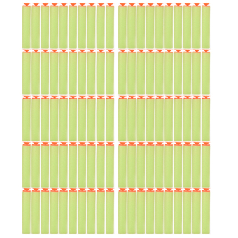 Amango Green Refill Foam Darts For Nerf N-strike 100 Pcs
