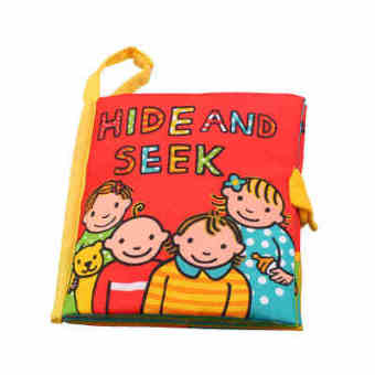 British jollybaby baby hide and seek dimensional cloth book cloth book baby early childhood educational toys for years