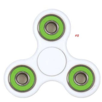 Harga Fidget Spinner Triangle Single Finger Decompression Gyro B Green - intl