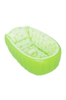 Harga Inflatable Baby Bath Tub Shower Seat (Green)(Export)(Intl)