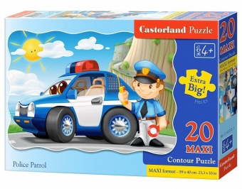 Harga Castorland ingenuity imported children's puzzle 20 piece police patrol 02252