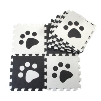 Harga Win8Fong Baby Kids Toddler EVA Foam Play Floor Puzzle Crawling Mat Set of 10 Pcs Black/White (EXPORT)