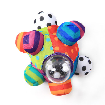 Harga Yingwei Baby Colorful Hand Ball Infant Bell Cloth Rattle Toy