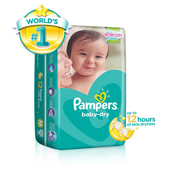 Harga Pampers Baby Dry Diapers M52's (6-11kg) x 1 pack