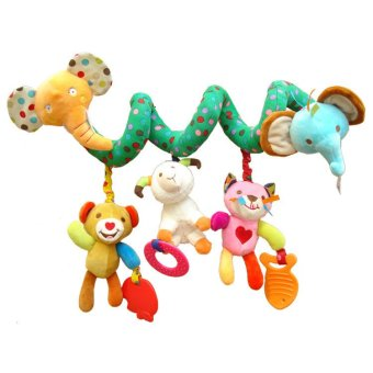 Harga New Baby Stroller Clip Bed Hanging Crib Bed Around Baby Toys Cute Plush Toys Safe Toys Cognitive Elephant(Export)- Intl