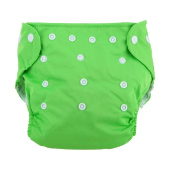 Baby Soft Washable Adjustable Grid Diapers (Green)
