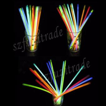100pcs Mixed Color Glow Stick Flashing Light Bracelets Party Kid Glowstick - intl - 3