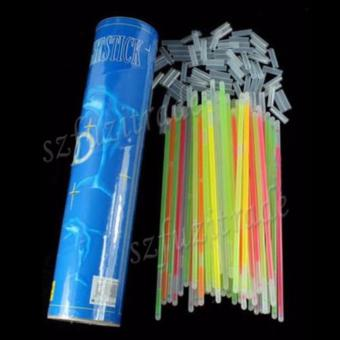 100pcs Mixed Color Glow Stick Flashing Light Bracelets Party Kid Glowstick - intl - 2