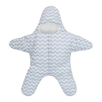 Harga PAlight Cute Starfish Baby Sleeping Bag Baby Blanket Swaddle (Blue)