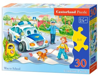 Harga Castorland ingenuity Poland imported children's puzzle 30 piece on the way to school 03389