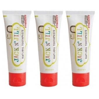 Harga Jack N' Jill Natural Calendula Toothpaste Strawberry 50g x3