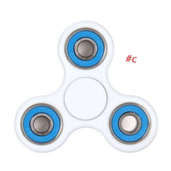 Harga Fidget Spinner Triangle Single Finger Decompression Gyro C Blue - intl