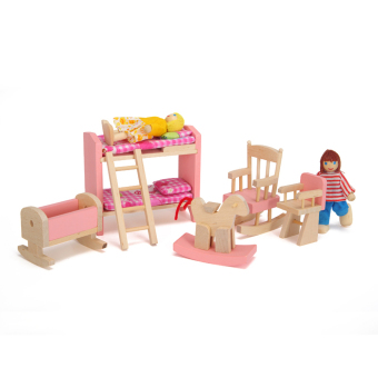 Harga Wooden Doll Bathroom Furniture-Bunk bed