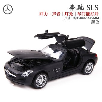 Harga Caused by mz alloy car model pull BACK toy CAR model MERCEDES sls simulation children toys gift