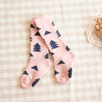 GDS 4 Pairs Baby Cotton Knee High Socks Children In Tube Socks Printcolorful Toddler Winter Spring Long Sock - intl - 5