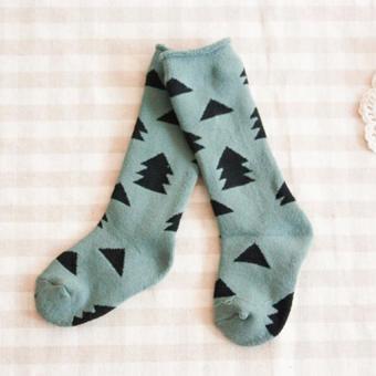 GDS 4 Pairs Baby Cotton Knee High Socks Children In Tube Socks Printcolorful Toddler Winter Spring Long Sock - intl - 2