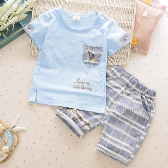 Harga Baby & kids' Korean-style pure cotton short-sleeve outfit set