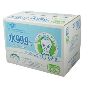 Harga 99.9% Pure Water Wipes Eday 80 sheets x 20 packs