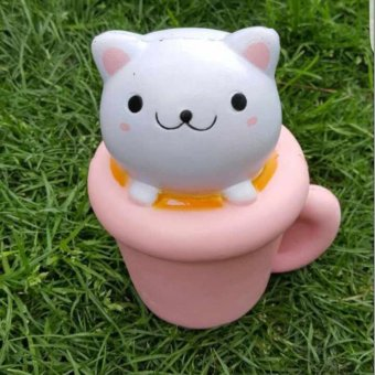 Harga squishy slow rising Cat Cup soft PU(10.5 x 9 x 14cm) - intl